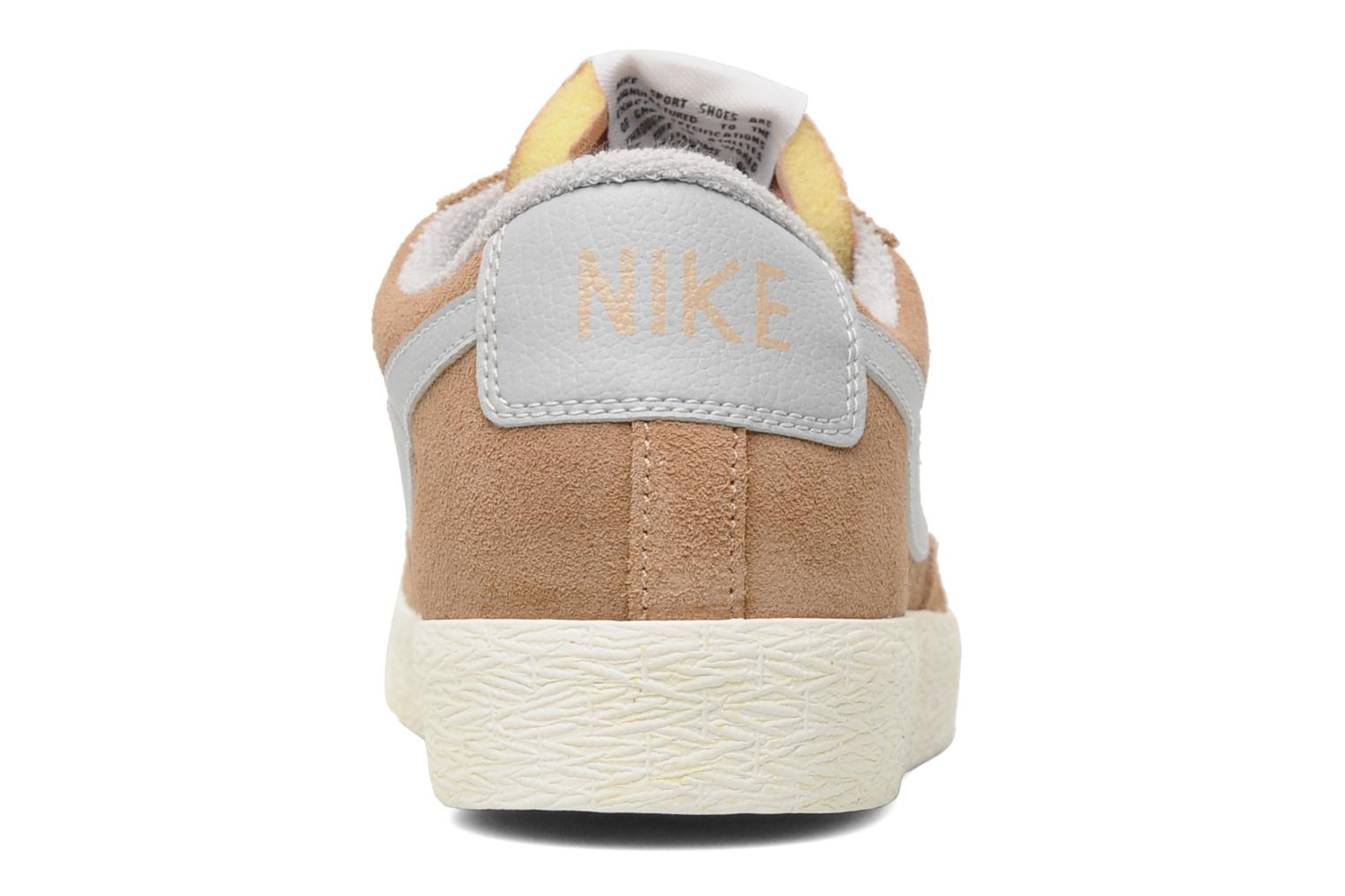 Trainers Nike Blazer Low Prm Vintage Suede Beige view from the right