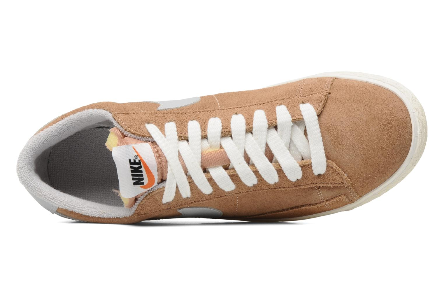 Trainers Nike Blazer Low Prm Vintage Suede Beige view from the left