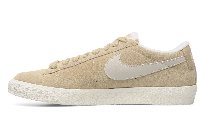 Baskets Nike Wmns Blazer Low Suede Vintage Beige vue face