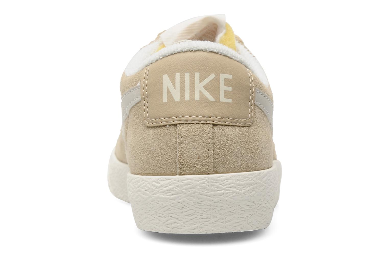 Baskets Nike Wmns Blazer Low Suede Vintage Beige vue droite