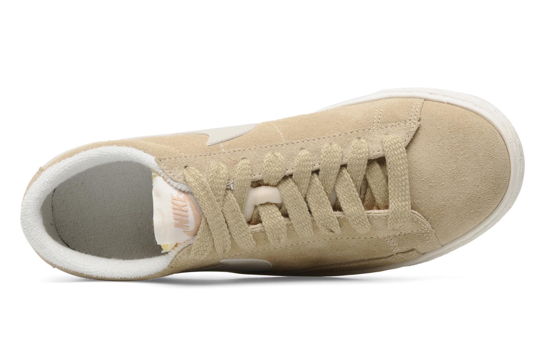Baskets Nike Wmns Blazer Low Suede Vintage Beige vue gauche