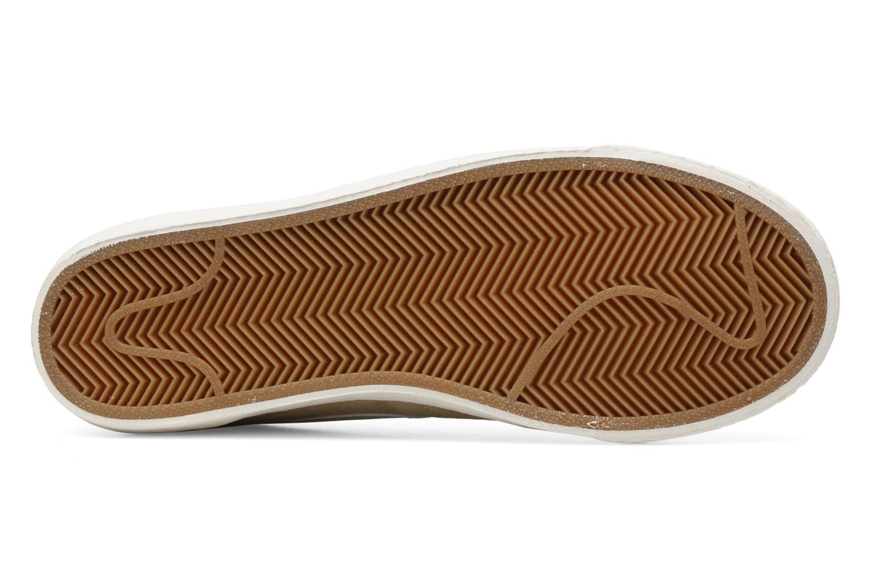 Baskets Nike Wmns Blazer Low Suede Vintage Beige vue haut