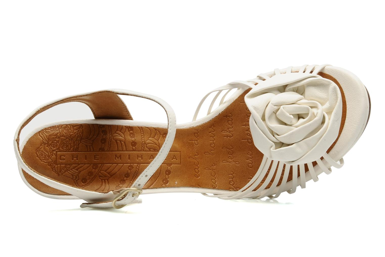 Sandales et nu-pieds Chie Mihara Rose Blanc vue gauche