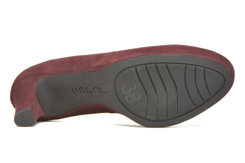 Zapatos de tacón Unisa Numis Vino vista de arriba