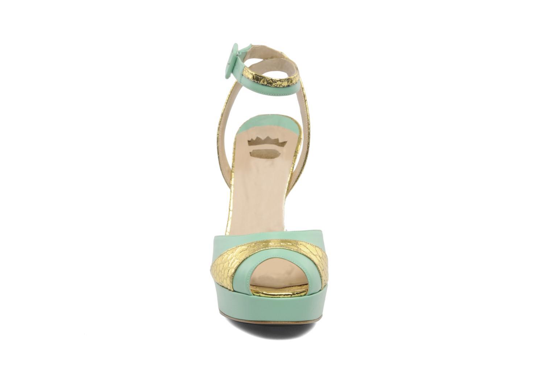 Sandales et nu-pieds Ernesto Esposito Eli Vert vue portées chaussures