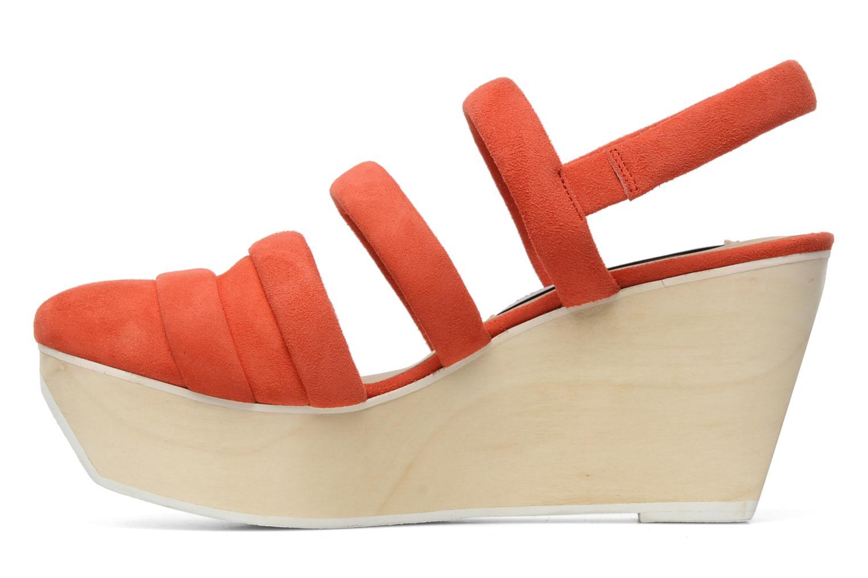 Sandalen B Store Edwige 6 orange ansicht von vorne