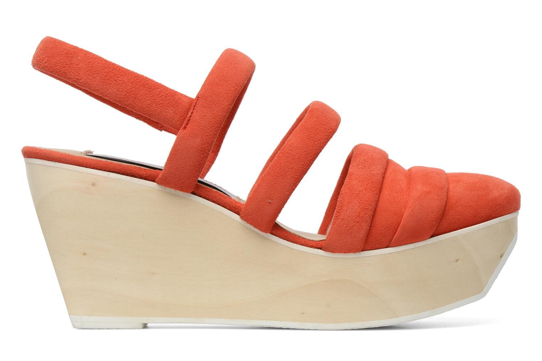 Sandalen B Store Edwige 6 orange ansicht von hinten