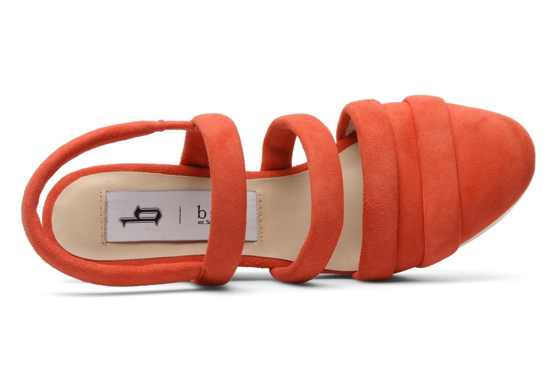 Sandalen B Store Edwige 6 orange ansicht von links