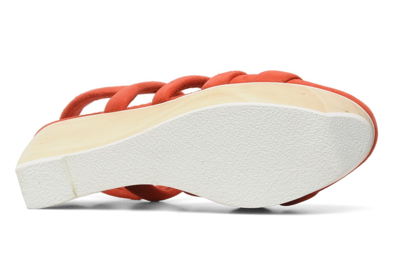 Sandales et nu-pieds B Store Edwige 6 Orange vue haut