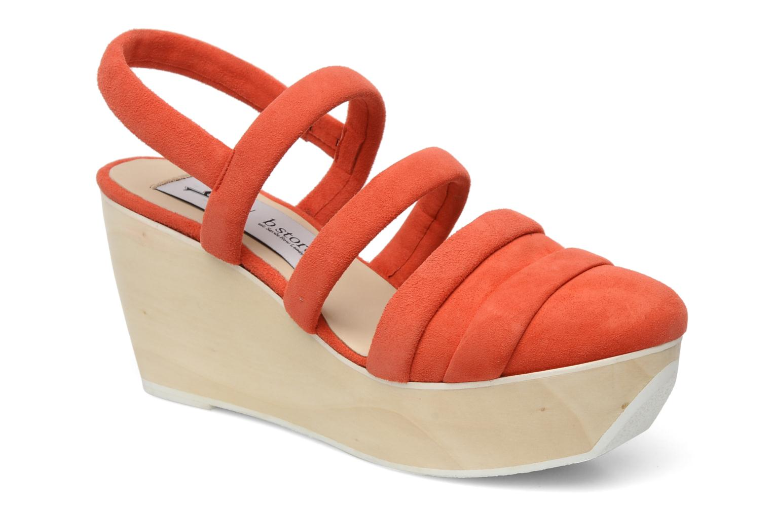 Sandals B Store Edwige 6 Orange detailed view/ Pair view