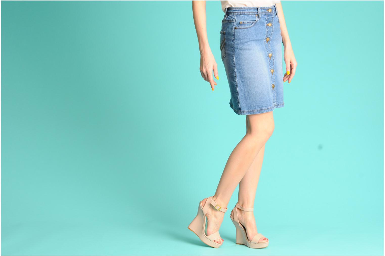 Sandales et nu-pieds I Love Shoes Phodeal Beige vue bas / vue portée sac