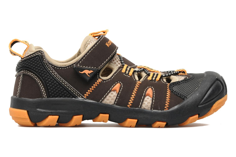 Sneakers Kangaroos Beni Bruin achterkant