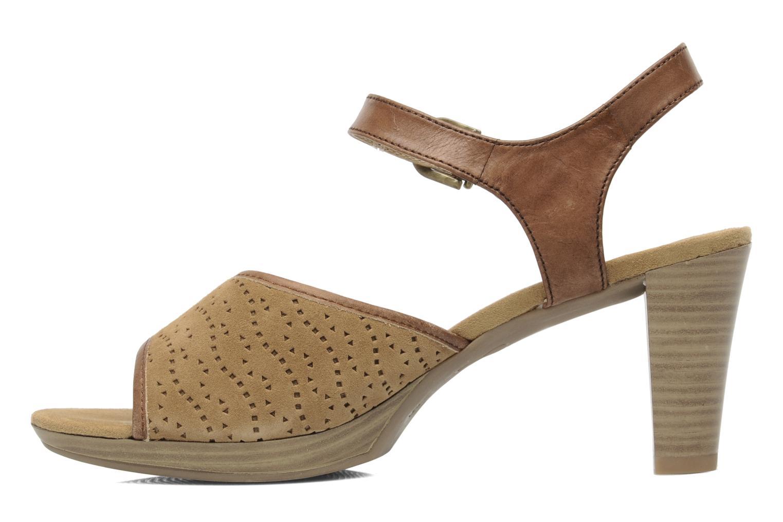 Sandales et nu-pieds Caprice FOULLIA Beige vue face