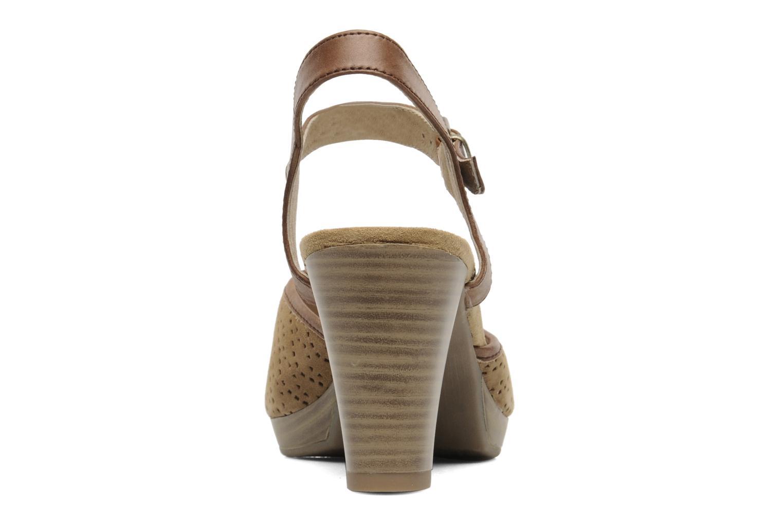 Sandales et nu-pieds Caprice FOULLIA Beige vue droite