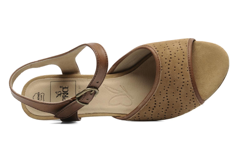 Sandales et nu-pieds Caprice FOULLIA Beige vue gauche