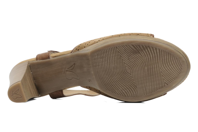 Sandales et nu-pieds Caprice FOULLIA Beige vue haut
