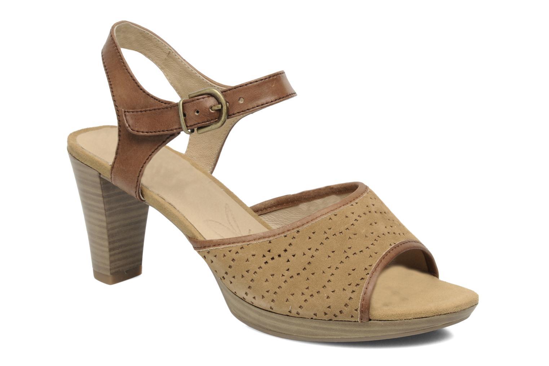 Sandales et nu-pieds Caprice FOULLIA Beige vue détail/paire
