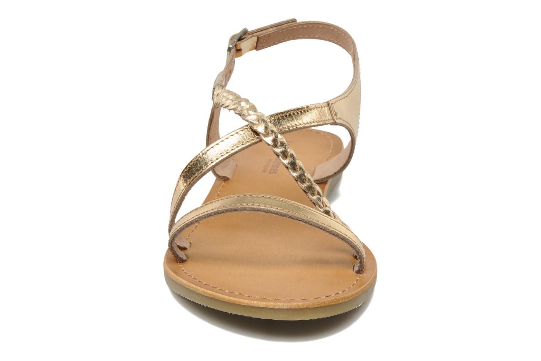 Sandales et nu-pieds Les Tropéziennes par M Belarbi Hanano Or et bronze vue portées chaussures