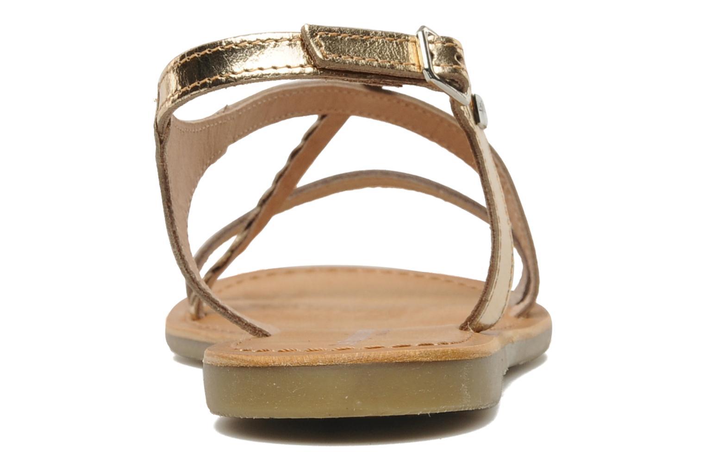 Sandales et nu-pieds Les Tropéziennes par M Belarbi Hanano Or et bronze vue droite