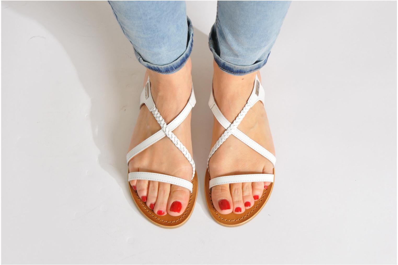 Sandales et nu-pieds Les Tropéziennes par M Belarbi Hanano Noir vue bas / vue portée sac