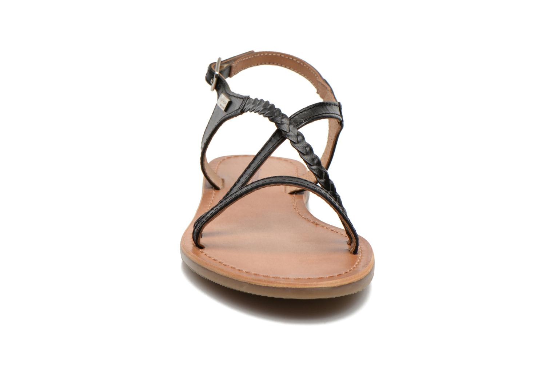 Sandales et nu-pieds Les Tropéziennes par M Belarbi Hanano Noir vue portées chaussures