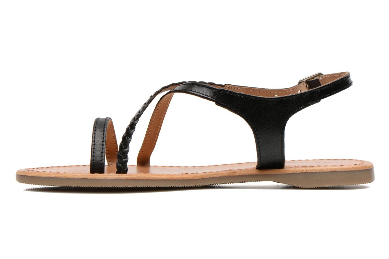 Sandales et nu-pieds Les Tropéziennes par M Belarbi Hanano Noir vue face