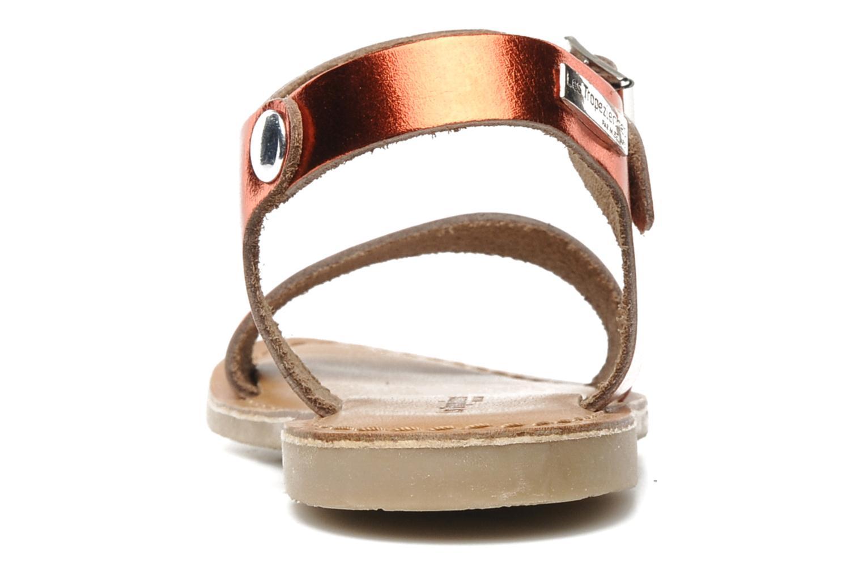 Sandales et nu-pieds Les Tropéziennes par M Belarbi Hiliona E Rouge vue droite