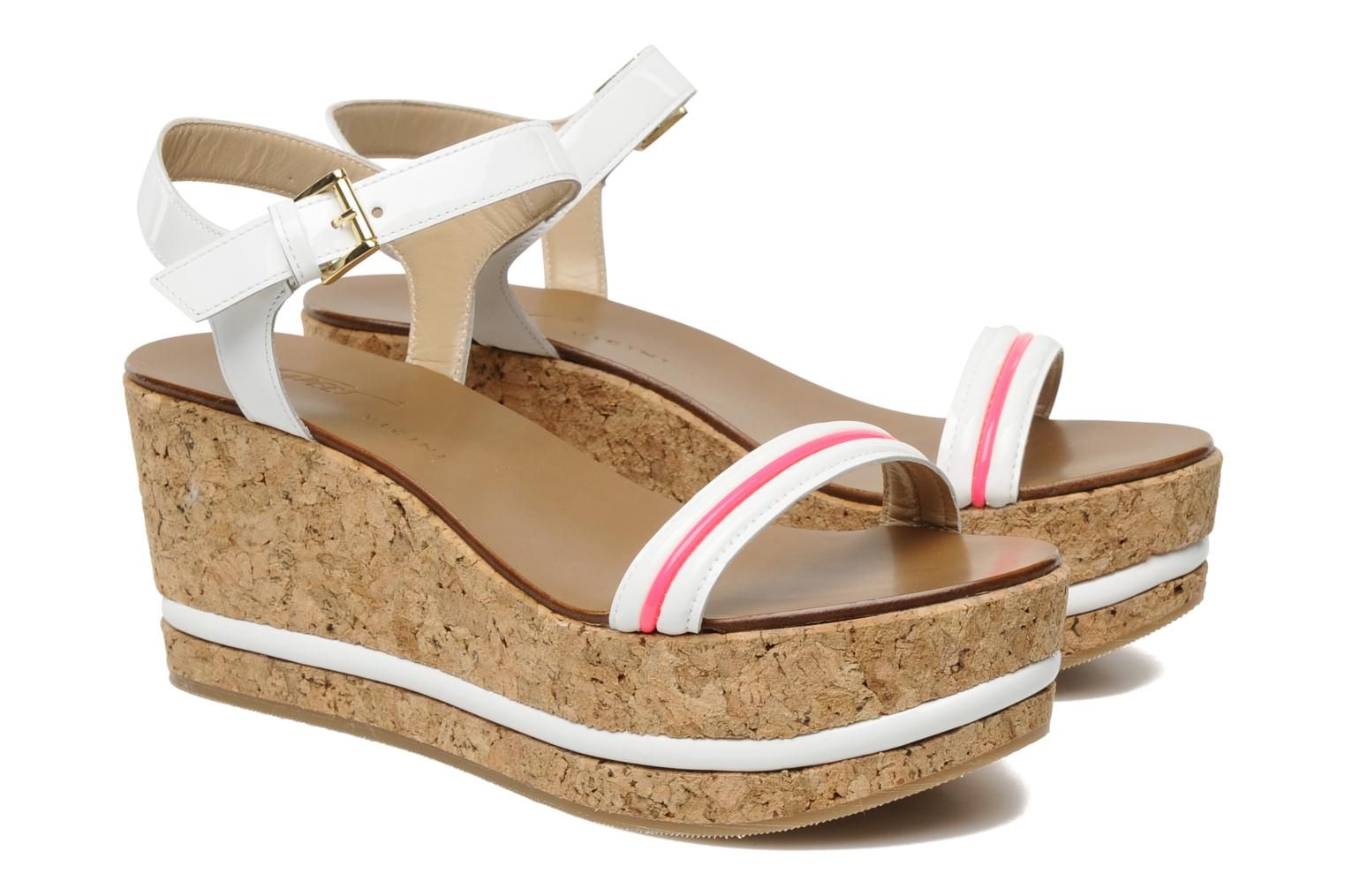 Sandals Tapeet Tolly White 3/4 view