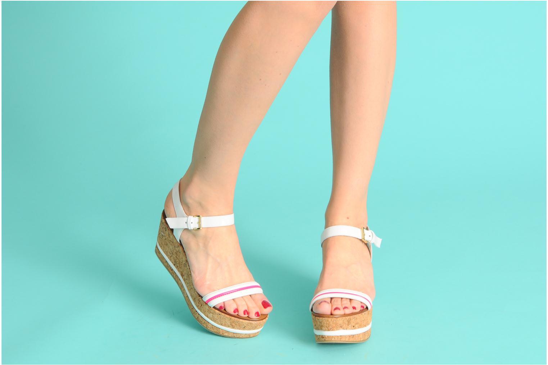 Sandales et nu-pieds Tapeet Tolly Blanc vue bas / vue portée sac