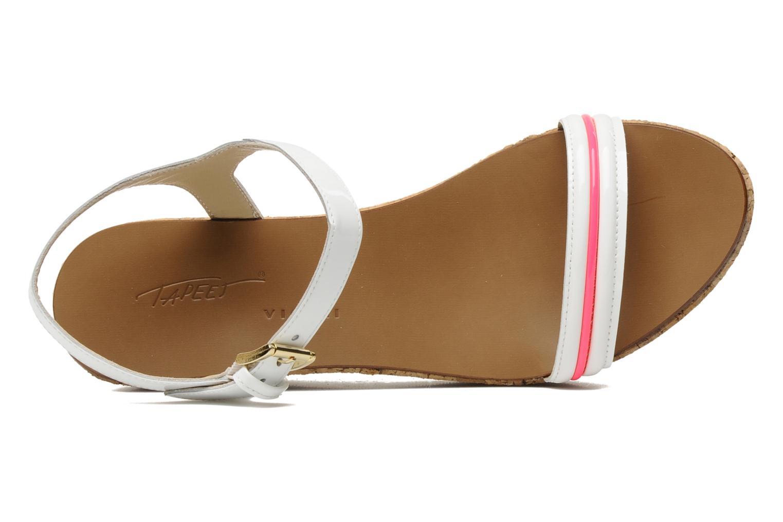 Sandales et nu-pieds Tapeet Tolly Blanc vue gauche