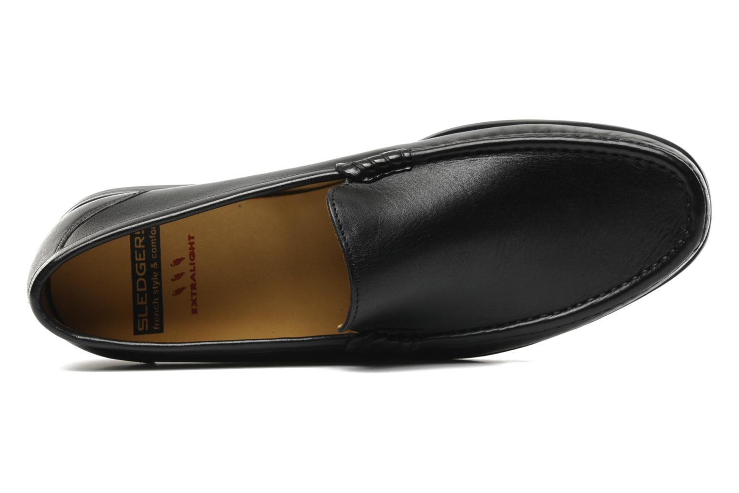 Mocassins Sledgers Morris Zwart links