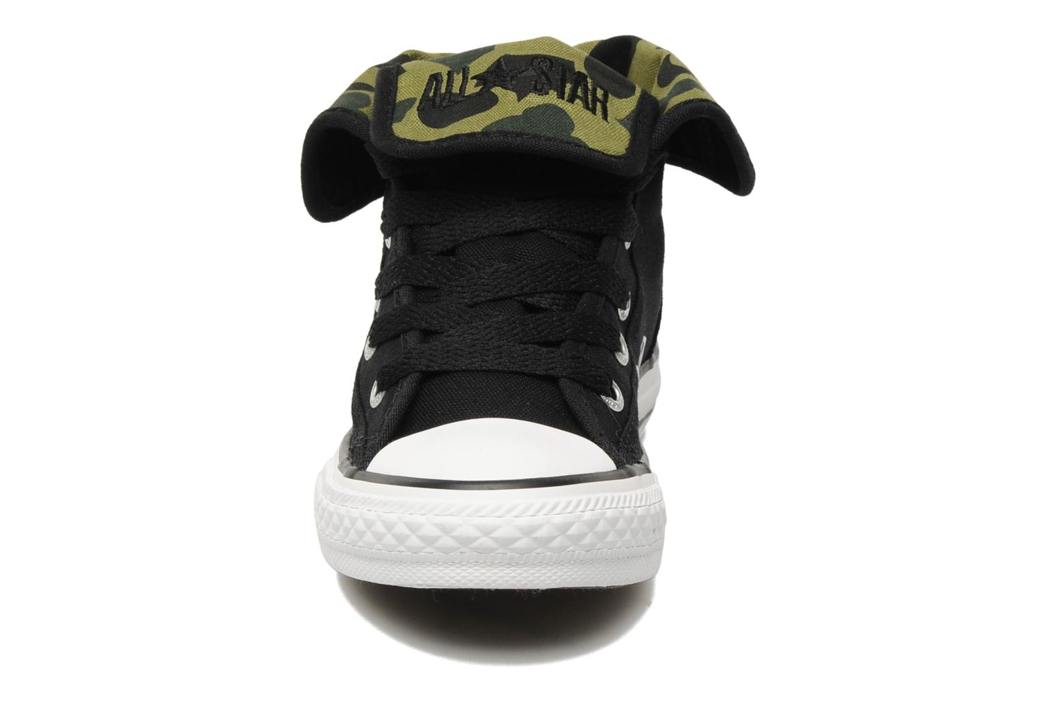 Chuck Taylor All Star Super Canvas Camo Hi K Noir-Camo vert