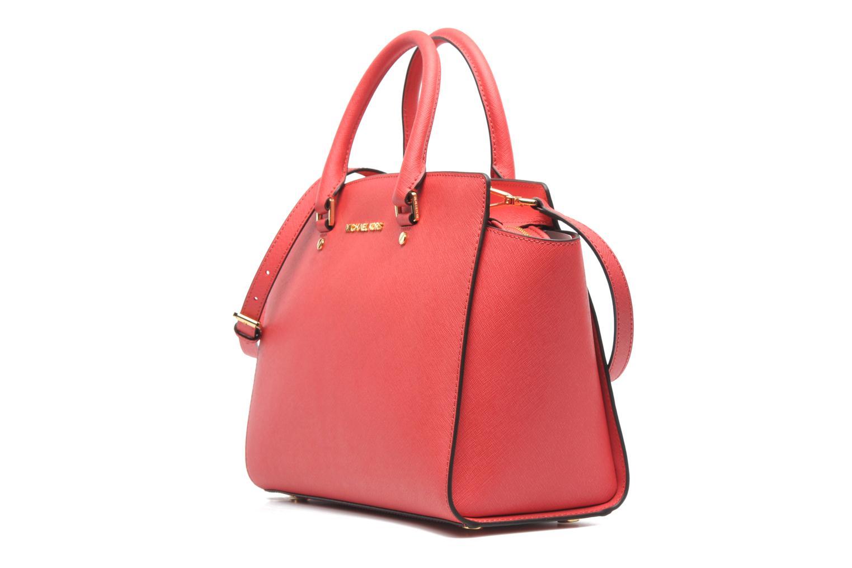Handbags Michael Michael Kors SELMA LG TZ Satchel Pink model view