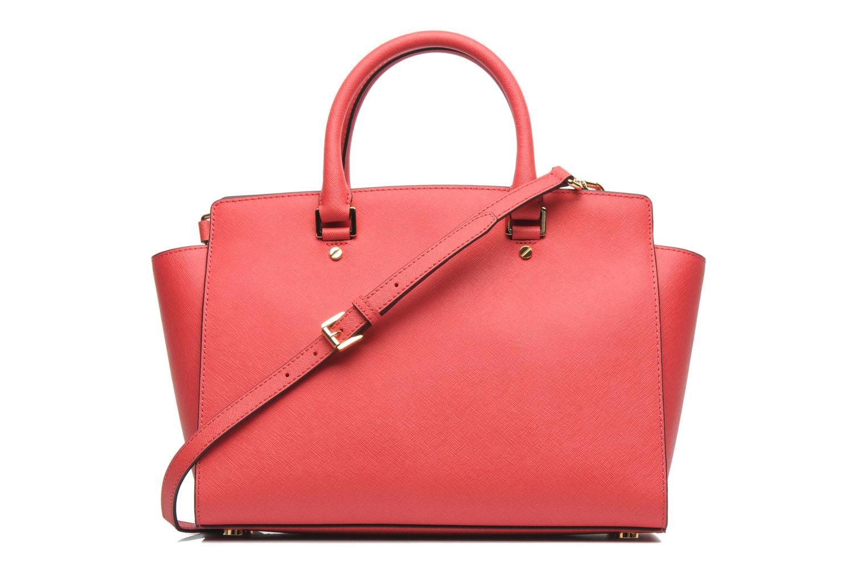 Handbags Michael Michael Kors SELMA LG TZ Satchel Pink front view
