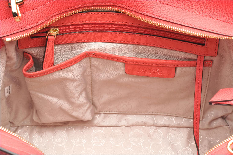 Handbags Michael Michael Kors SELMA LG TZ Satchel Pink back view