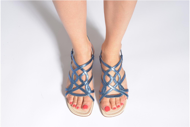 Sandales et nu-pieds Anna Volodia Aplat Or et bronze vue bas / vue portée sac
