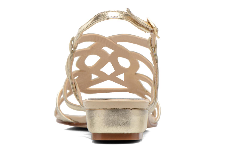 Sandales et nu-pieds Anna Volodia Aplat Or et bronze vue droite