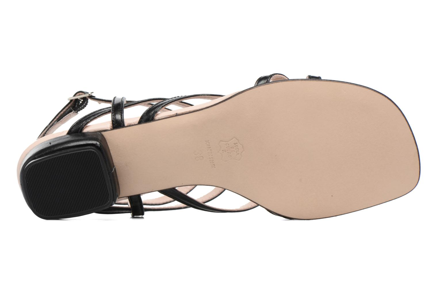 Sandals Anna Volodia Aplat Black view from above