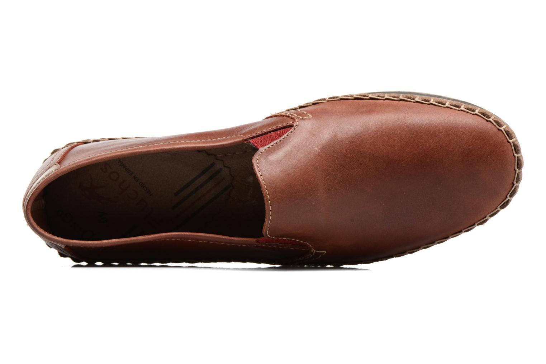Loafers Fluchos Bahamas 8674 Röd bild från vänster sidan