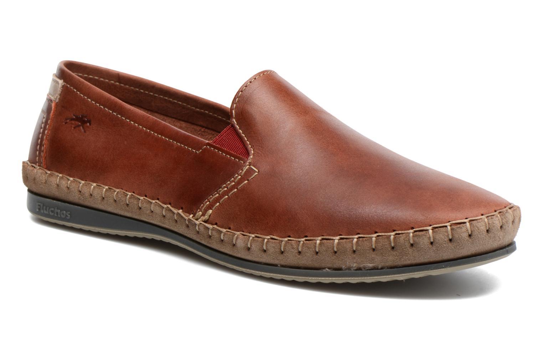 Loafers Fluchos Bahamas 8674 Röd detaljerad bild på paret
