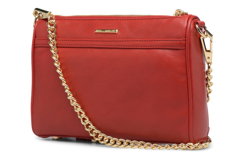 Handtaschen Rebecca Minkoff Mini MAC rot ansicht von rechts