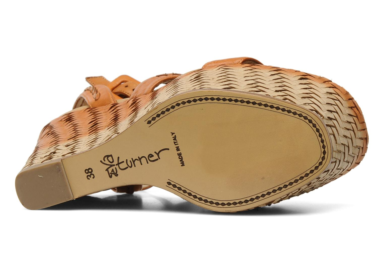 Sandales et nu-pieds Eva Turner WAVY Marron vue haut