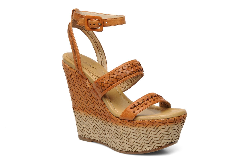 Sandaler Eva Turner WAVY Brun detaljeret billede af skoene