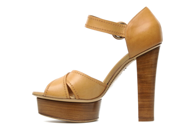 Sandali e scarpe aperte Eva Turner WOOVIE Marrone immagine frontale