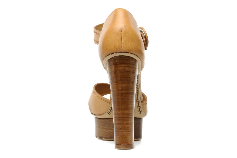 Sandali e scarpe aperte Eva Turner WOOVIE Marrone immagine destra