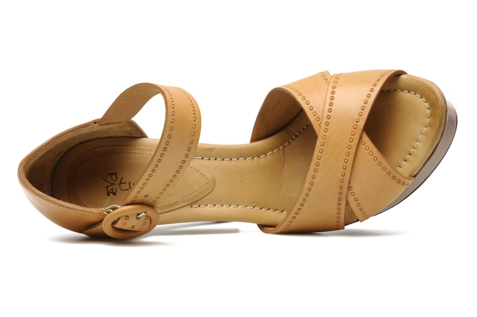 Sandals Eva Turner WOOVIE Brown view from the left