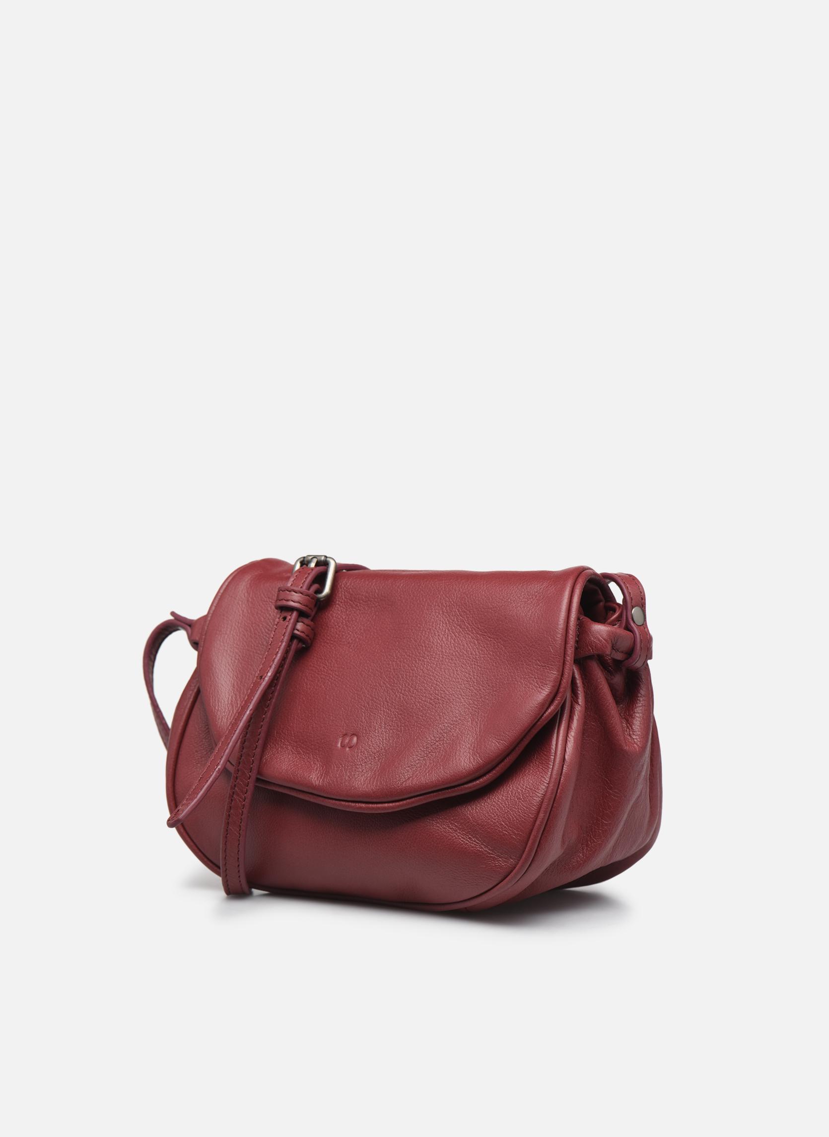 Handtaschen Sabrina Alice weinrot schuhe getragen