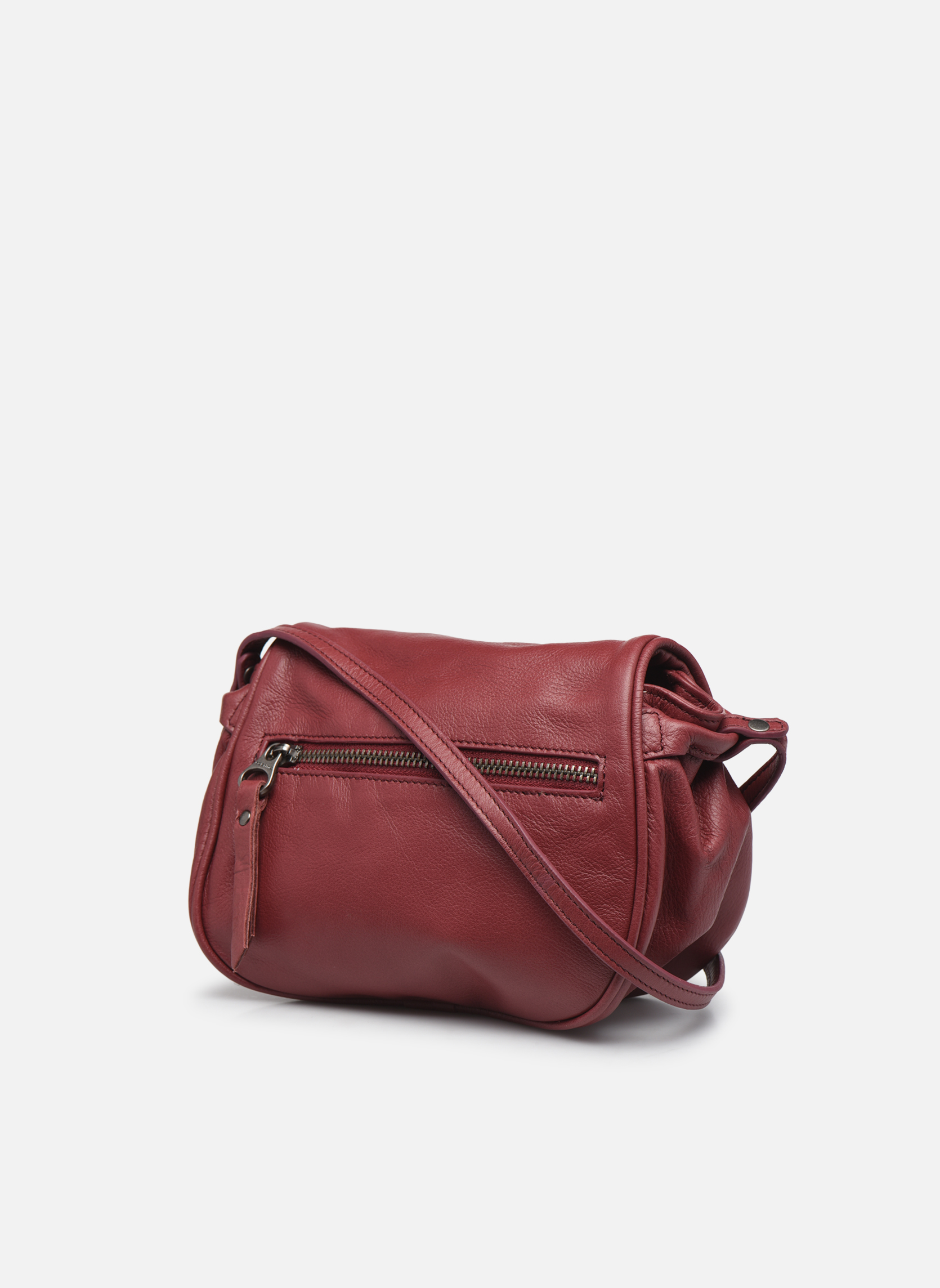 Handbags Sabrina Alice Burgundy view from the right