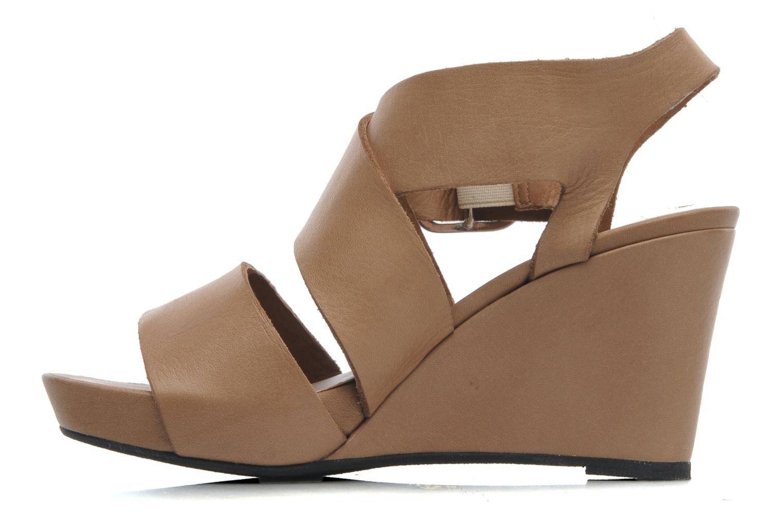 Sandales et nu-pieds Avril Gau Leli Beige vue face