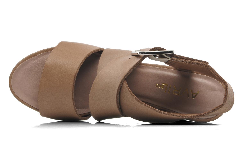 Sandales et nu-pieds Avril Gau Leli Beige vue gauche